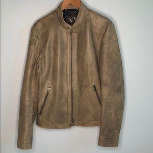 Asphalt Armani Exchange Leather Jacket